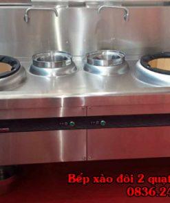 bếp xào đôi 2 quạt thổi 2 bầu nước