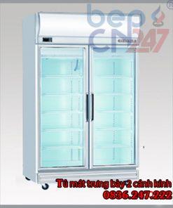 tủ mát trưng bày 2 cánh kính 2D/DC-S